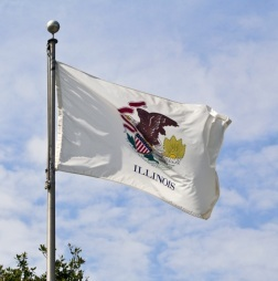 illinois -- state flag adopted what year ?