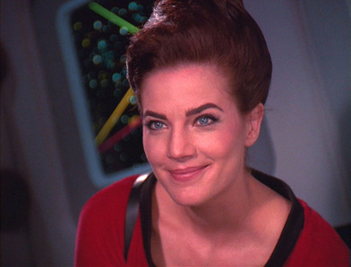 Jadzia once claimed that as a different host she had a relationship with which TOS character?