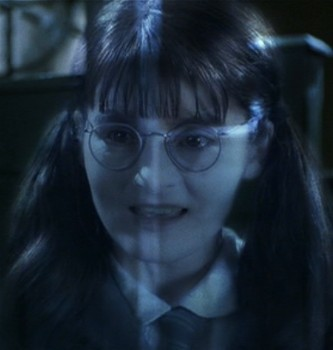 How old was Shirley Henderson (who played Moaning Myrtle) during the Chamber of Secrets?