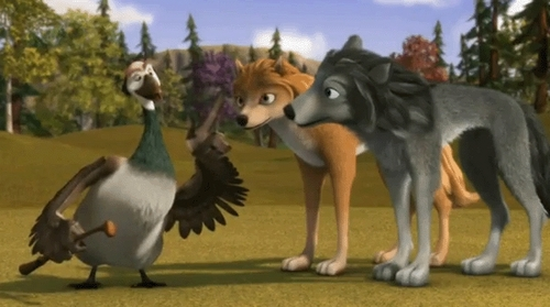 What does Marcel say after he claims that he is not afraid of wolves?