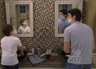 Nathan teaching Jamie how to shave! :)