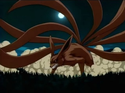 Who turns into the 9-tailed demon fox?
