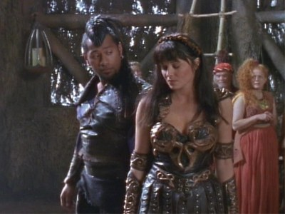 Xena spared Draco's pathetic life, making him promise...