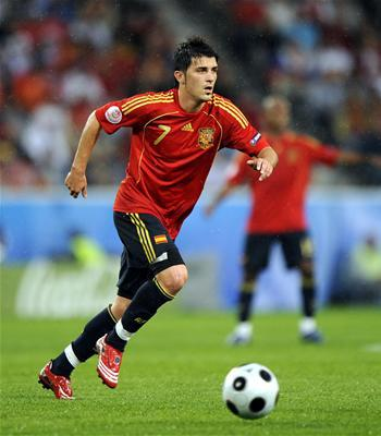 How many goals did David Villa score at the EURO 2008?