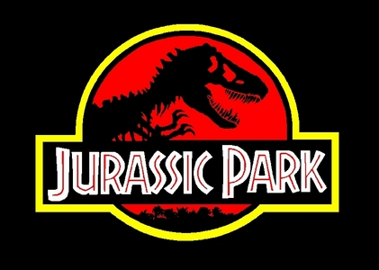 What episode do we see and ad for Jurassic Park in?