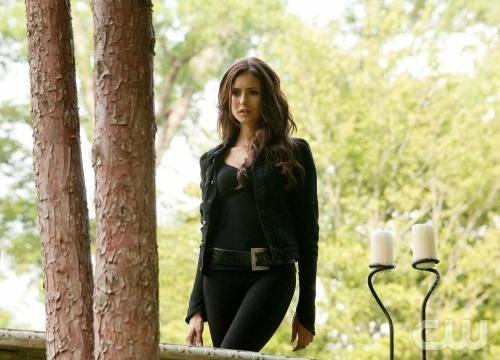 Which episode? Katherine: Tell Damon and Stefan to give me the moonstone or I will rip this town apart until it rains blood.