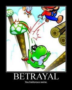 Would Mario ever betray Yoshi???