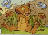 Who is this character from the danish Lion King comic The Orphaned Birds?