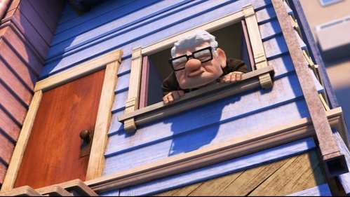 T/F: This picture is from the real movie Up.