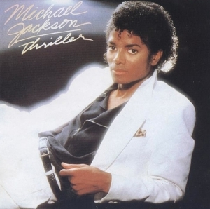 How many parte superior, arriba ten singles did Thriller have?