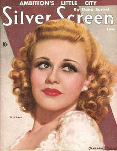 Ginger Rogers appeared in this movie magazine in which anno ?