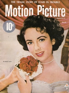 Elizabeth Taylor appeared in this movie magazine in which year ?