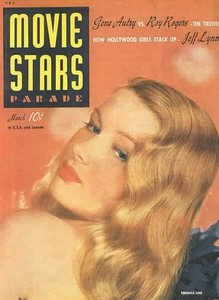In which year did Veronica Lake feature in this movie magazine ?