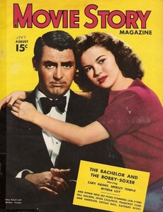 In which year did Cary Grant and Shirley Temple feature in this movie magazine ?