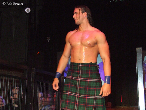 Drew McIntyre began training in ........?