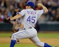 What is CURRENT Met Pitcher R.A. Dickey's Full Name?