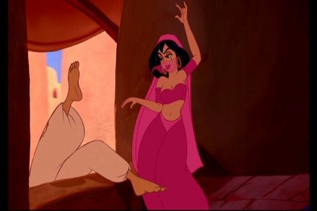 What is the first name to be mentioned in the movie Aladdin?