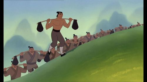 What is the last name to be mentioned at the end of the movie Mulan?