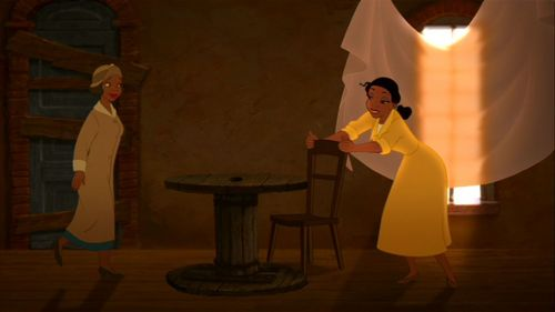 What is the last name to be mentioned at the end of the movie Princess and the Frog?