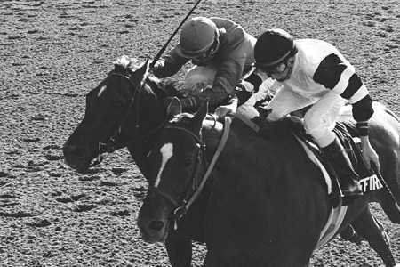 Which jockey rode Affirmed in all three 1978 Triple Crown races?