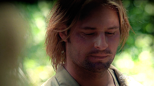 Bernard says ''We just care about being together, that's all that matters in the end'' and Sawyer looks at...