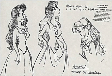 "Who did the animatie of Vanessa from ""The Little Mermaid""?"