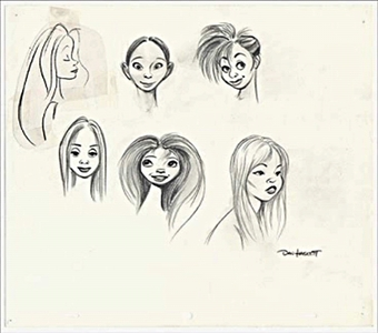 this is an early character design of what female disney