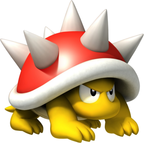 Mario Enemies - They are often thrown سے طرف کی Lakitus in unlimited supplies, but can also be naturally occurring