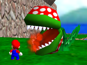 Mario Enemies - This plant can shoot fireballs, and some have the ability to fire three at a time.
