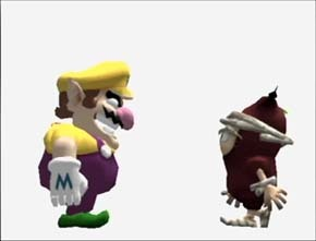 Nintendo Characters - They assist Wario in Wario World. They come in five colors and will give him hints and tips to defeat The Black Jewel if he rescues them