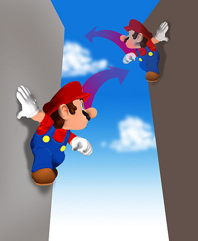 Mario can reach great heights, kreuz wide gaps, oder save himself from falling into a bottomless pit