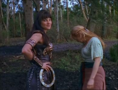 "In the morning Gabrielle asked Xena: ""Did you sleep OK?"" What was Xena's reply?"