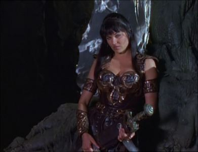What did Xena want Gabrielle to do in the cave?