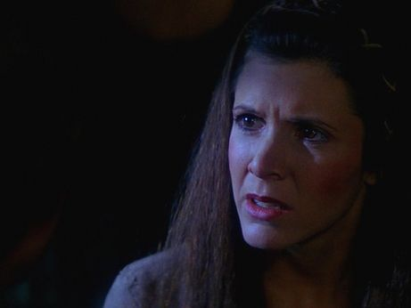 What sends Leia into such shock in this picture?