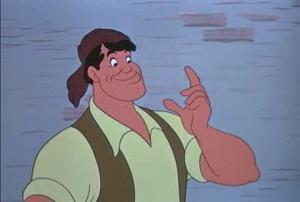 True Or False: Andreas Deja based Gaston's design on this Disney character.