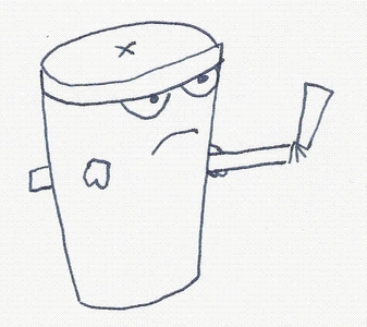 In the movie, where did Master Shake remove his straw?