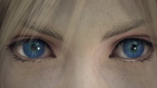 Who reflects in right Cloud's eye?