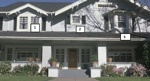Which is Jessica's window?
