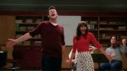 In duets, when Rachel decides to throw the competition deliberately so Sam would say in New Directions, what does Finn think breadsticks has on their menu?