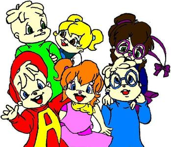 In what age categorie are the Chipmunks and the Chipettes in the 80s serie?