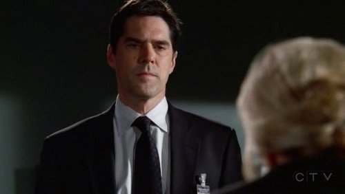 In 3x01 Doubt Strauss suspends Hotch and takes his badge, he says to her as he turns to leave: