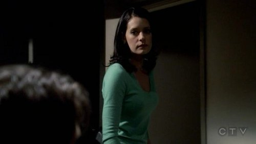 In 3x01 Doubt Prentiss takes a long look at the unsub on her way out of the interview room as if to say: