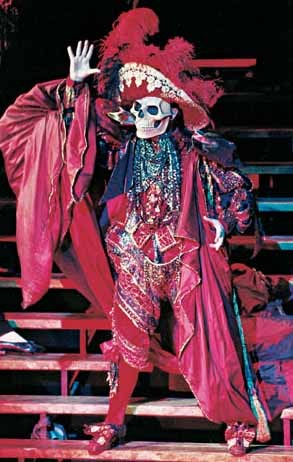What was the name of the costume the Phantom wore in the Masquerade scene?