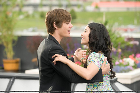 """What did Gabriella say right before the song """"Can I Have This Dance?"""" (at East High roof) starts?"""