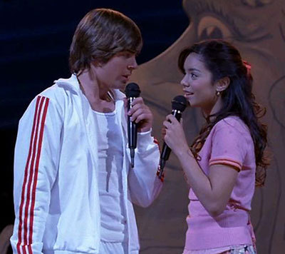 What was the first statment Gabriella speak to Troy?