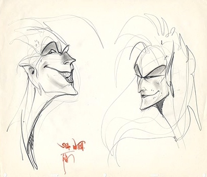 This is art concept of which disney Villain?