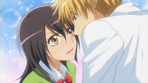 How many time do Misaki and Usui kiss on lips? include in manga from chapter 1-58