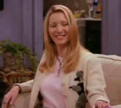 "What did Phoebe say after Rachel kissed Ross in ""TOW the prom video""?"