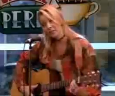 """In phoebe's song """"two of them kissed last night"""" about RnR's kiss...what did she call Ross and Rachel?"""