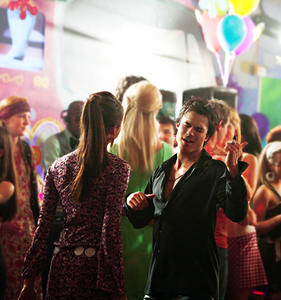 Damon is dancing with?